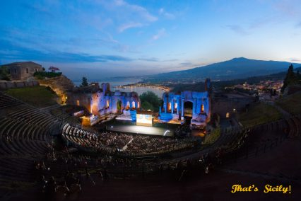 Greek Amphie Theatre, Taormina Sicily Photo: Ami Elsius